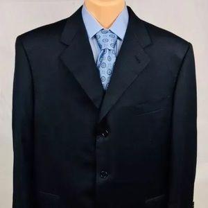Canali 3-Button Navy Wool Blazer 52R US EUC